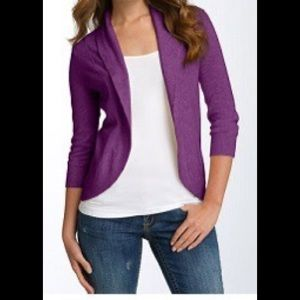 Purple Ribbed Back Open Cardigan From Nordstrom